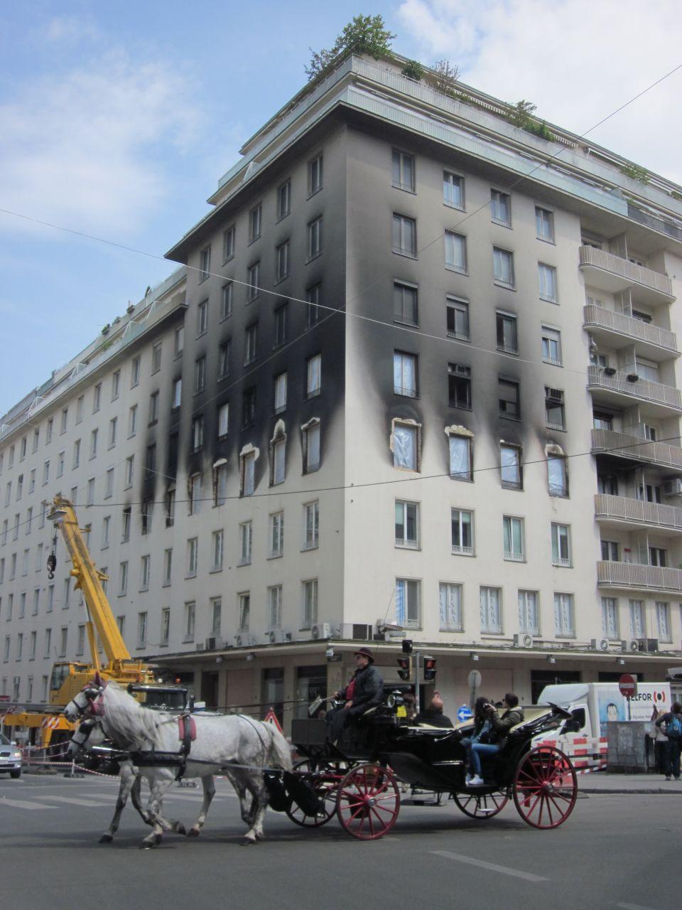 Brandanschlag auf Wohnhaus am Hohen Markt