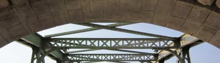 Döblinger Steg - Fachwerkbrücke über den Donaukanal