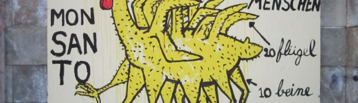 Grafitti - Monsanto Huhn